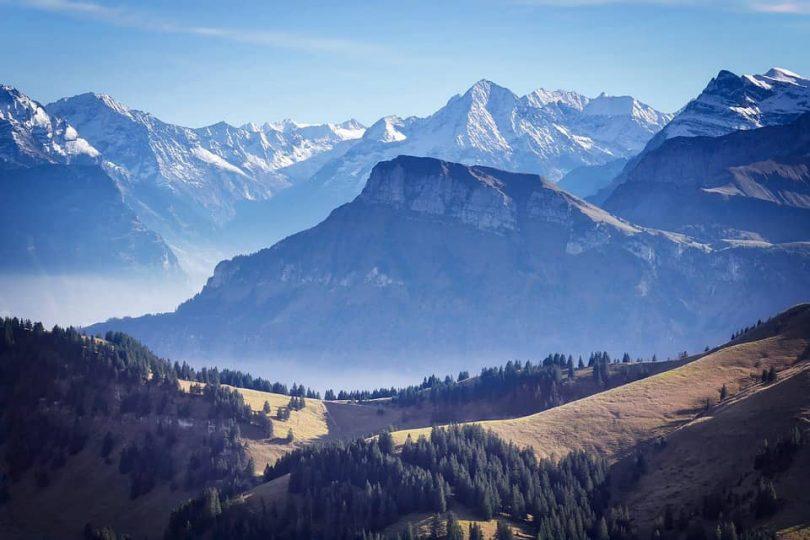 Montagnes en Suisse