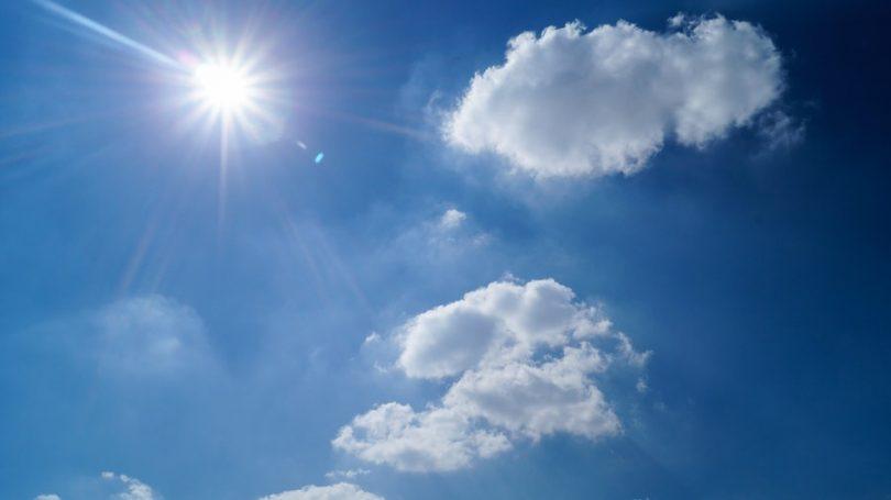 nuage ciel soleil